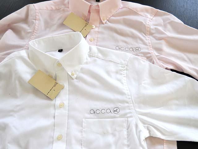 Yシャツの刺繍
